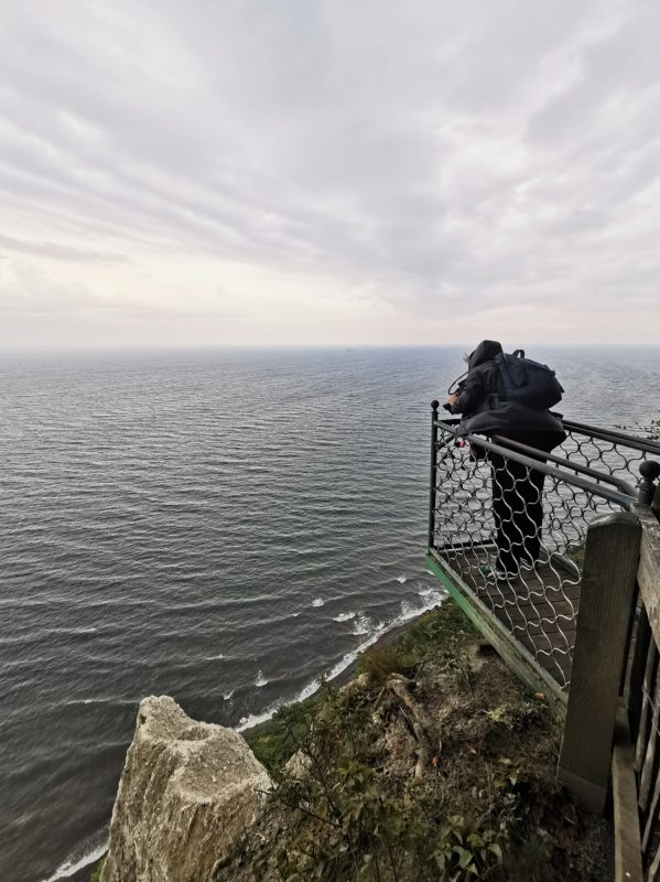 Die Viktoriasicht im Nationalpark Jasmund in Mecklenburg-Vorpommern mit Blick auf die Kreidefelsen