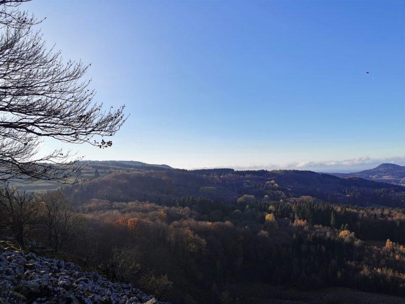 Aussicht in der Kernzone vom UNESCO-Biosphärenreservat Rhön - Extratour Guckaisee