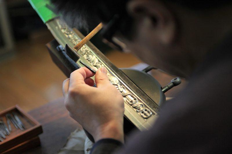 Schmiedekunst in Setouchi in Japan