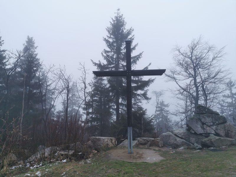 Gipfelkreuz auf dem Ochsenkopf - #AltesBlechAlteGrenze