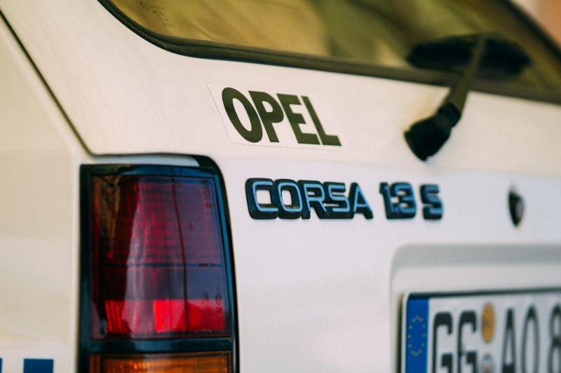 Heck vom Opel Corsa A Cup - AltesBlechAlteGrenze