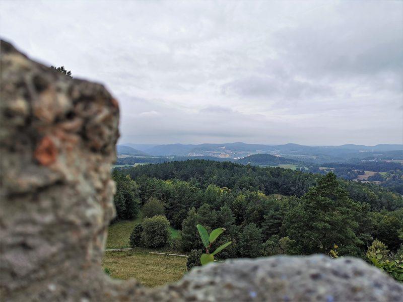 Aussicht von der Burgruine Lichtenegg im Nürnberger Land