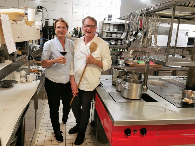 Die Inhaber Ralf und Niki Reste im Gasthaus zur Krone in Großheubach in Churfranken